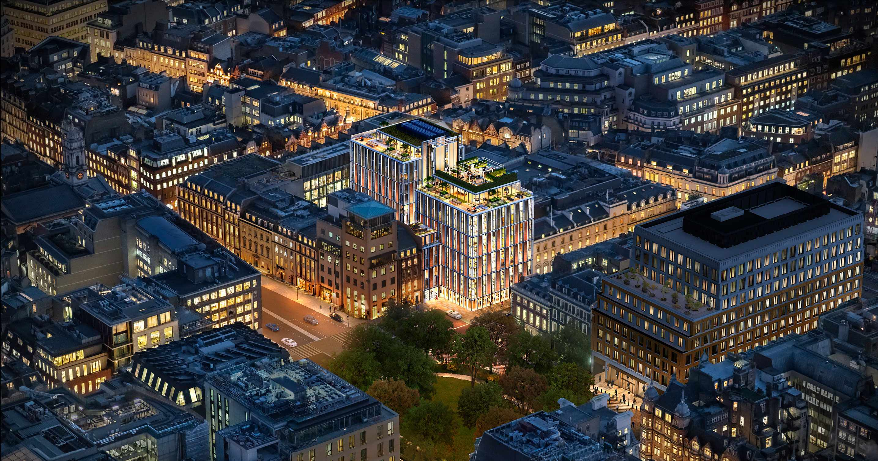 mandarin oriental residences-future-mayfair-london-aerial-view