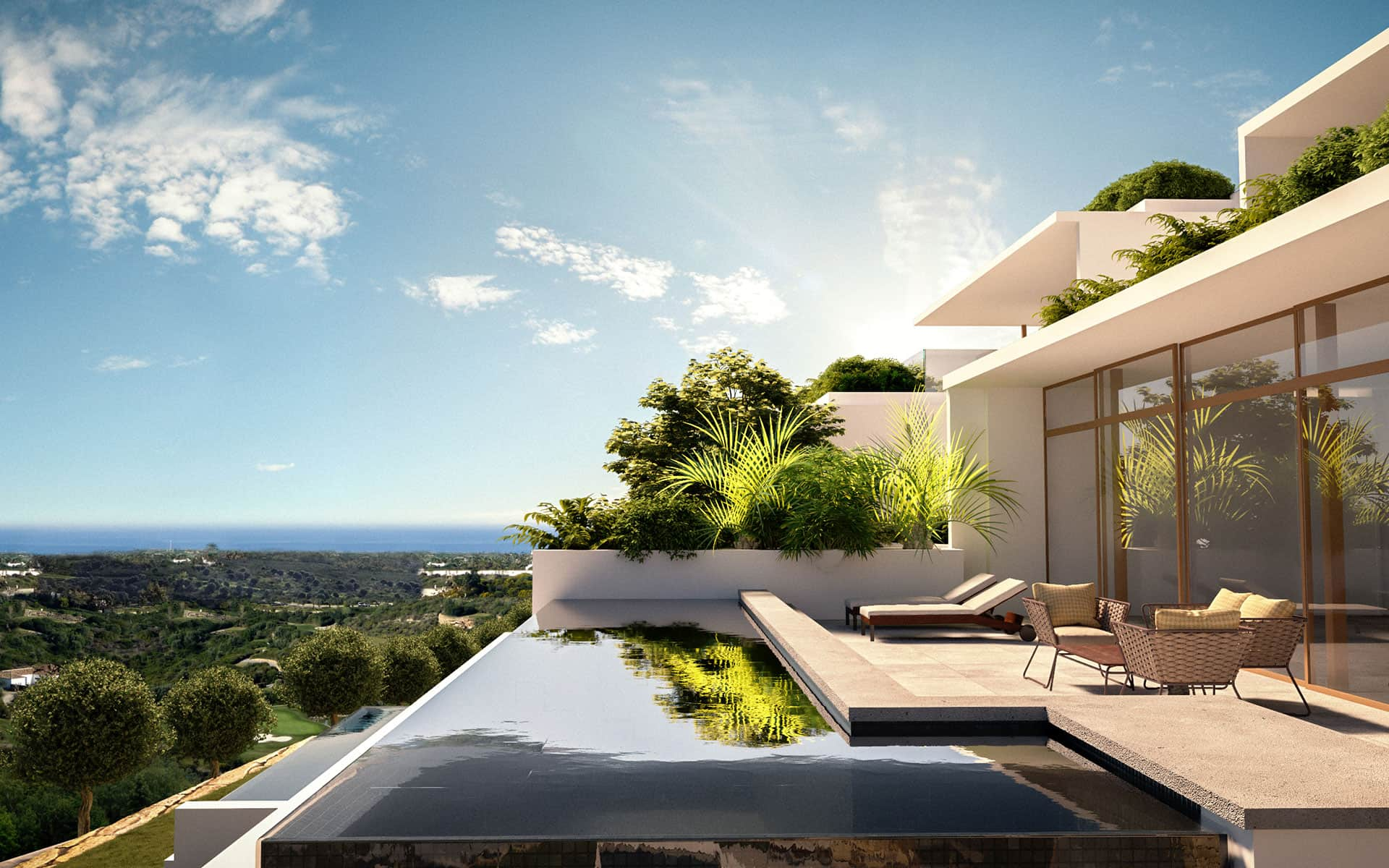Finca Cortesin Las Albercas residences for sale