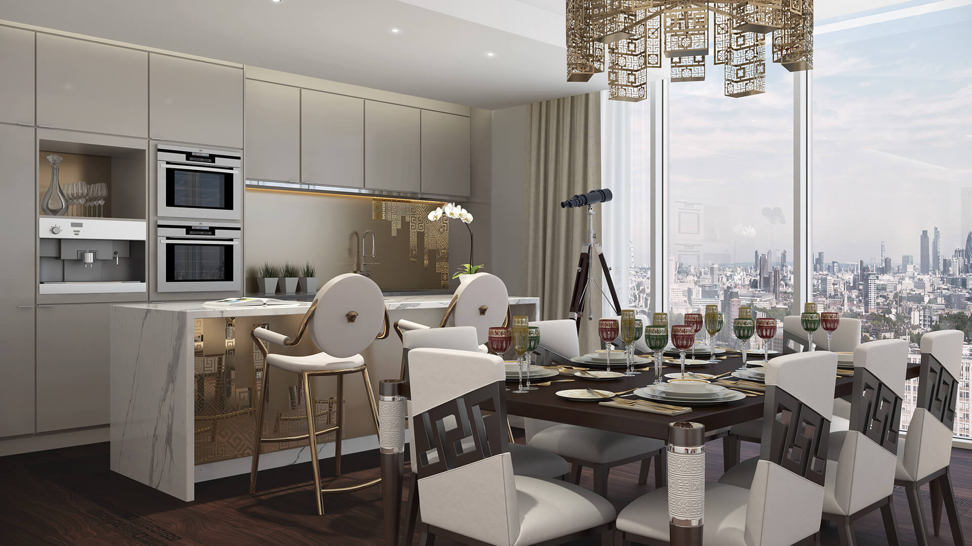 Damac Tower London with interiors by Versace Home