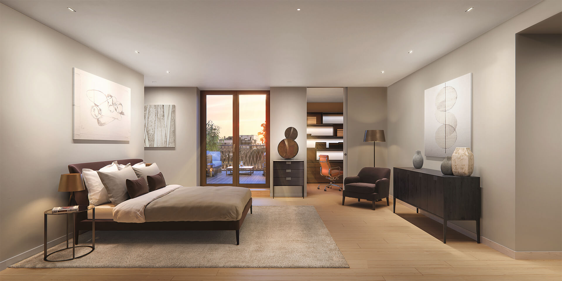 Marylebone Square LondonPenthouse_bedroom