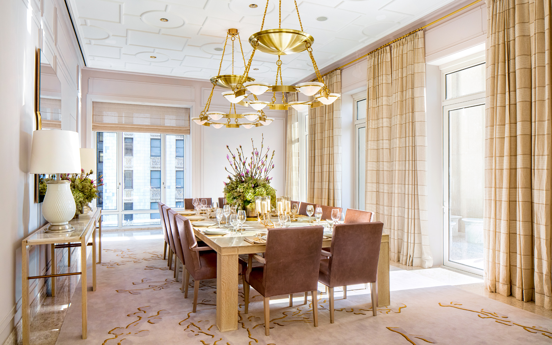 Four Season Private Residences New York-30-park-place-private-dining-room